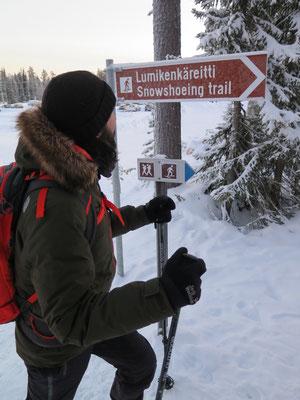 Erste Schneeschuhtour