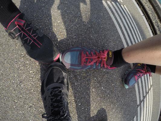 Die Schuhe werden getestet: ASICS Gel-FujiAttack5, Gel-FujiRado, TrabucoGTX