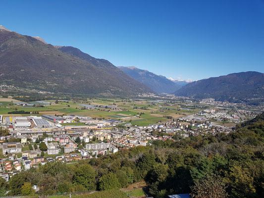 Fahrt über den Monte Ceneri nach Tenero