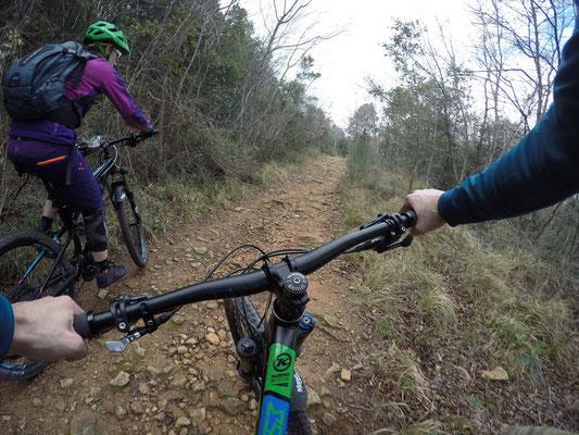 Mountainbiketour: Es geht paar Höhenmeter hoch auf den Hausberg