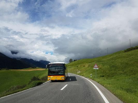 Nach einem Abstecher nach Österreich geht's ins Engadin