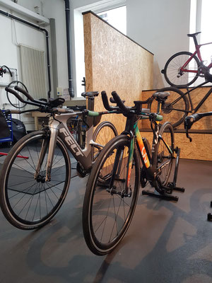 Verkauf des Triathlon Equipment