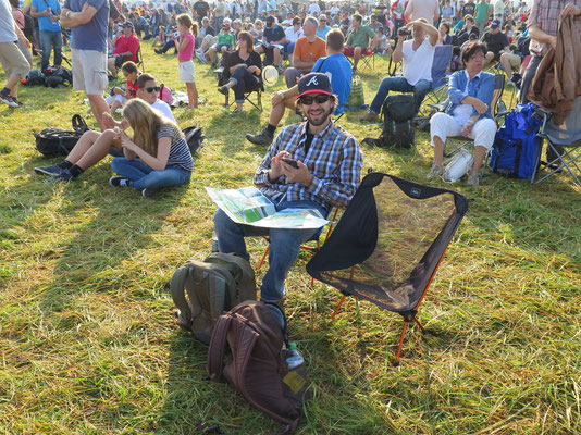 Platzsuche in der Menge