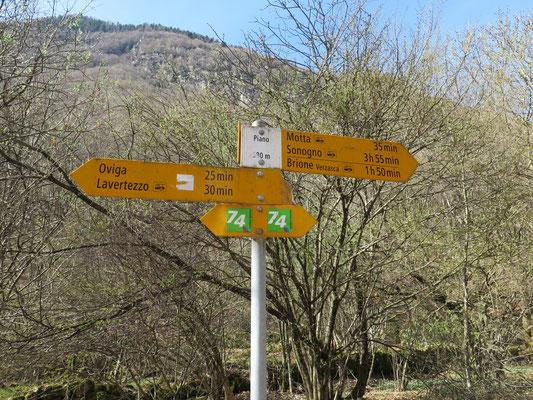 Wanderung Valle Verzasca: Lavertezzo-Sonogno