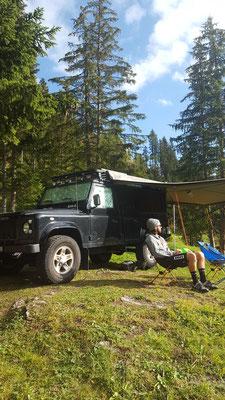 Unser Base Camp auf dem Arosa Camping