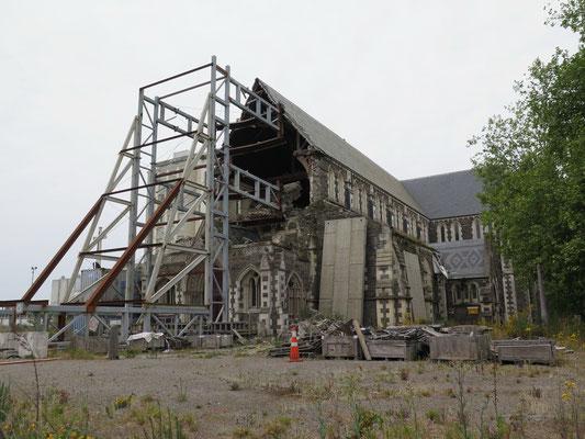 Christchurch ist eine Geisterstadt und immer noch zerstört vom Erdbeben im Jahr 2011
