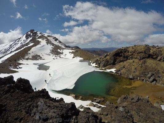 Tongariro Alpine Crossing Wanderung - Emerald Lakes