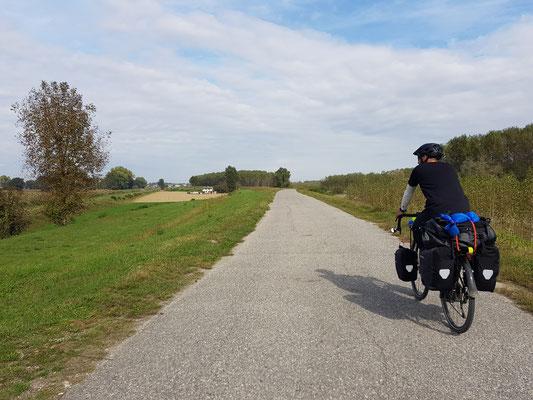 Weiter dem Po entlang Richtung Cremona