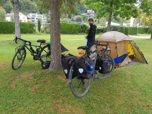 Angekommen auf dem Campground in Brunnen SZ