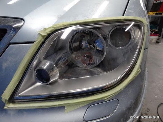 Een heldere koplamp na polijsten | A1 Car Cleaning