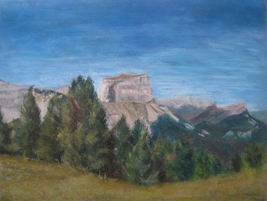 Souvenir du Mont aiguille - pastel - 40x50