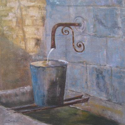 Fontaine - pastel - 40x30