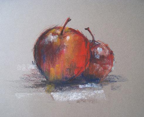pommes - pastel - 30x40