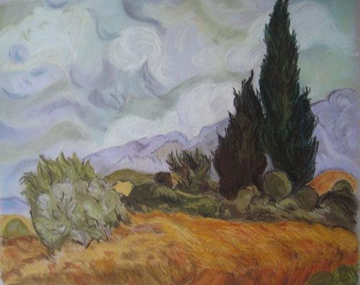 Copie de Van Gogh - pastel - 30x40