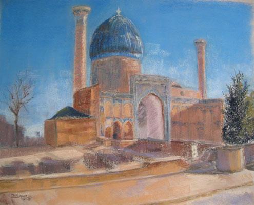 Samarcande Gour Emir - pastel - 50x40