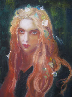 Copie de Ernest Hebert 'Ophélie' - pastel - 40x30