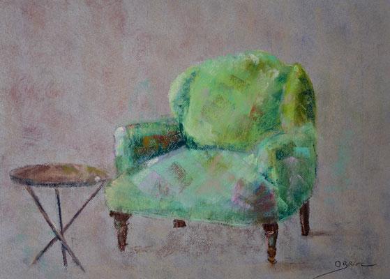 fauteuil - pastel - 30x40