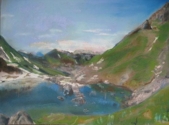 Lac de Darbon- pastel - 30x40
