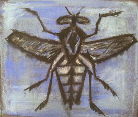 La mouche - pastel - 23x28