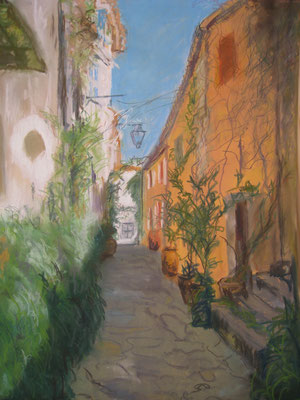 Rue italienne - pastel - 40x30