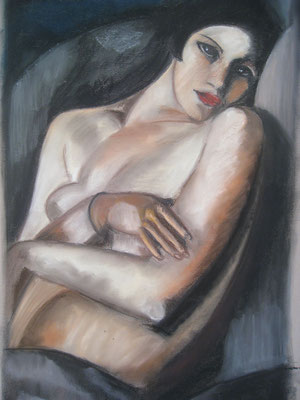 Copie Tamara de Lempicka 'the dream' - pastel - 45x30