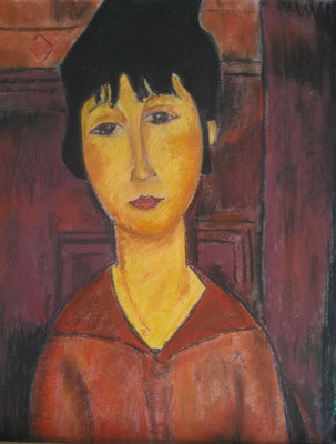 Copie de Modigliani - pastel - 40x30