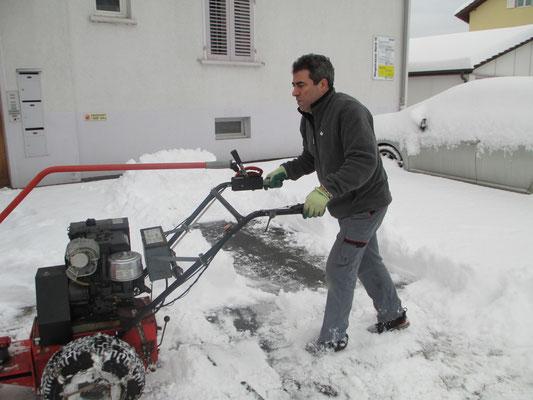 Winterdienst: Liegenschaft in Lenzburg