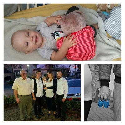 Papa, Mama, Pino Oliver, Nathalie und Robin bei der Taufe