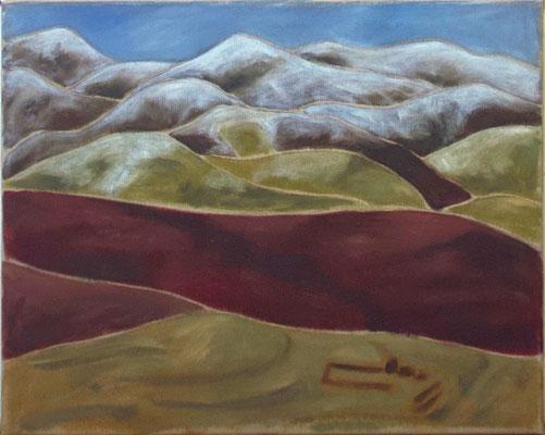 2017 Berge Garzê (40x50) Öl/Acryl umgrundierte Leinwand