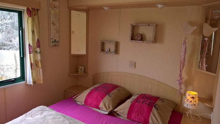 Die Cabane - das Schlafzimmer
