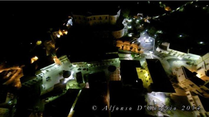 Veduta aerea notturna di Alfonso D'Onofrio