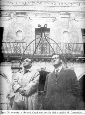 Igor' Fëdorovič Stravinskij, insieme allo studioso Robert Craft
