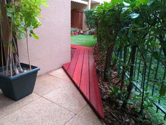 Terrasse bois avec lames Cumaru