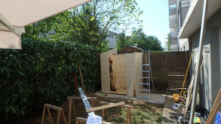 Montage d'abris de jardin