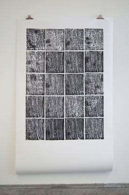 Hans Peter, Moosgummidruck, 1,50m x 2,50m, 2018, Wiepersdorf