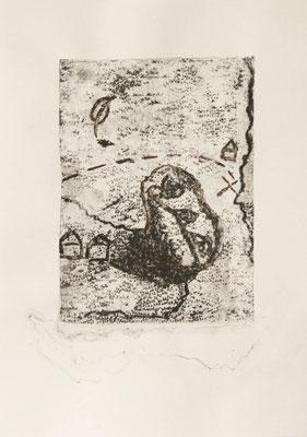 treasuremaps A: 5, 21 cm x 29,7 cm Papierlithografie und Zeichnung, 2020