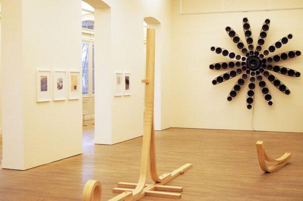 Ausstellungsansicht, GESTALTUNG DER ZUKUNFT, arp Museum, Bahnhof Rolandseck mit Florian Graf und Björn Kühn