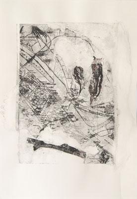 treasuremaps B: 2, 29,7 cm x 42 cm, Papierlithografie und Zeichnung, 2020