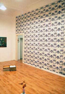 Münder, Siebdruck auf Vliestapete 6,30x3,60 m, Verflechtung, blam-Galerie Dortmund
