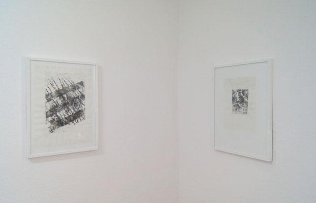 Winterschatten 1 und 3, Colalithografie, 43 x 61 cm , 29,5 x 42 cm, 2018
