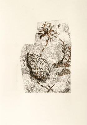 treasuremaps A: 2, 21 cm x 29,7 cm Papierlithografie und Zeichnung, 2020