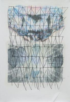 carcoaled Otto  Fototransferdruck und Kohlezeichnung, 53x77 cm,2017