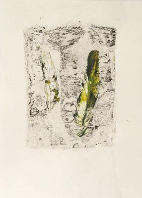 treasuremaps A: 1, 21 cm x 29,7 cm Papierlithografie und Zeichnung, 2020