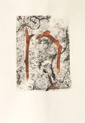 treasuremaps A: 4, 21 cm x 29,7 cm Papierlithografie und Zeichnung, 2020