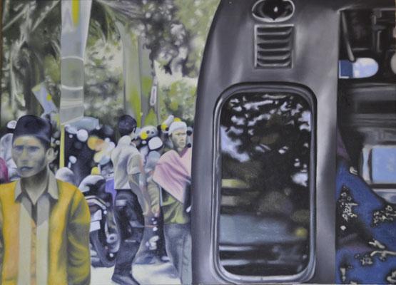 caro karo, oil on canvas, 110 x 80 cm, 2015