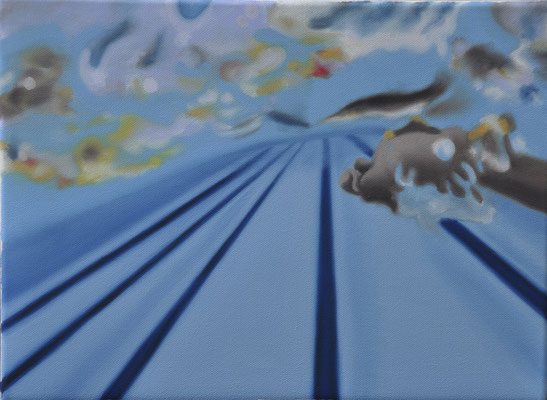 """ein griff in die kunst (""""underbove"""" series), oil on canvas, 40 x 30 cm, 2014 (public collection - accademia di belle arti, florence, IT)"""