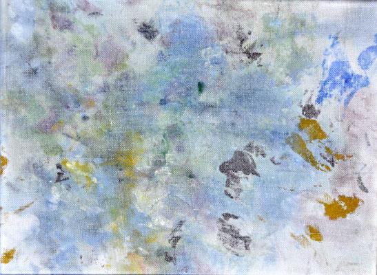 """numéro 11 (""""les témoins"""" series), oil on cotton, 24 x 18 cm, 2015"""