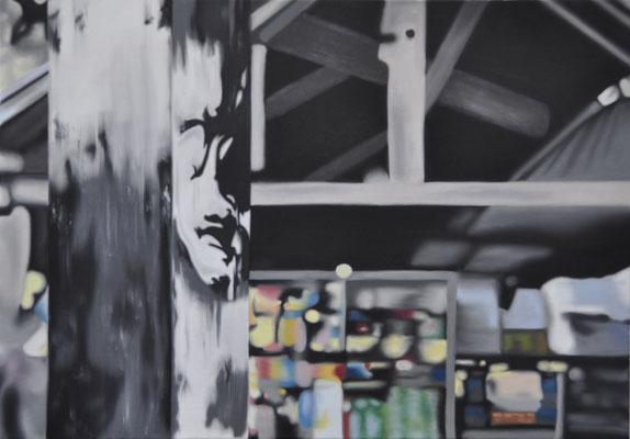 da fäerts du och näischt, oil on canvas, 100 x 70 cm, 2014 (public collection - bernard-massard, LUX)
