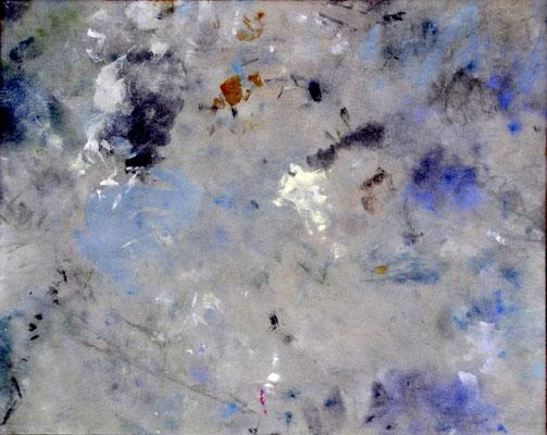 """numéro 3 (""""les témoins"""" series), oil on cotton, 30 x 24 cm, 2015"""