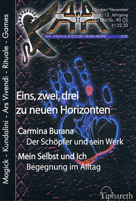 AHA. 13. Jhg., Nr. 5 (= Oktober/November 2000).